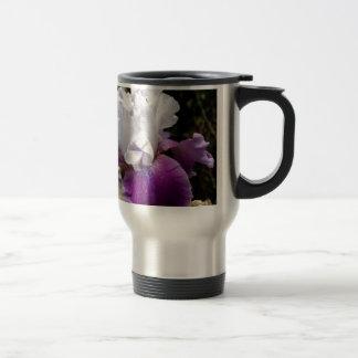 Härlig lila- och vitIrisdesign Resemugg