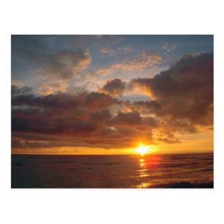 Härlig Maui solnedgång Vykort