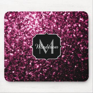 Härlig Monogram för rosaglittersparkles Musmatta