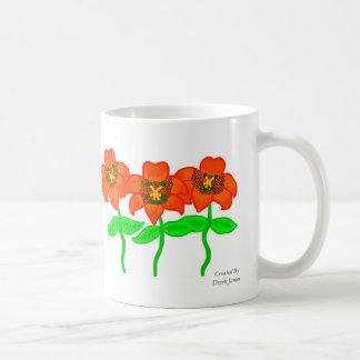 Härlig mugg för tigerliljakaffe