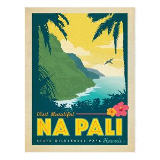 Härlig Na Pali, Hawaii för besök Vykort