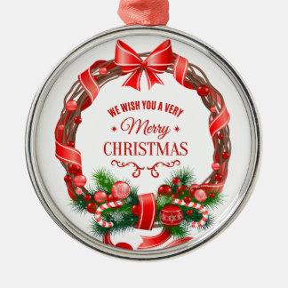 Härlig och elegant julkranprydnad julgransprydnad metall