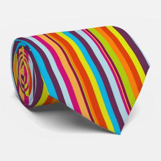 Härlig och färgglad vertikal randslips slips