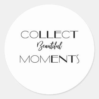 Härlig ögonblicksklistermärke för Minimalist mot Runt Klistermärke
