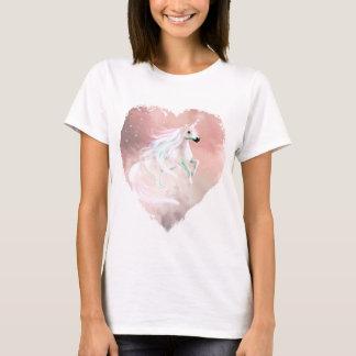 Härlig pastellfärgad Unicorn i en hjärta Tshirts