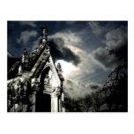 Härlig plats för gotisk kyrkogårdcrypt vykort