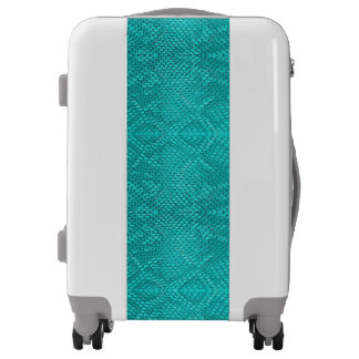 Beautiful Reptile turquoise snake carry-on luggage