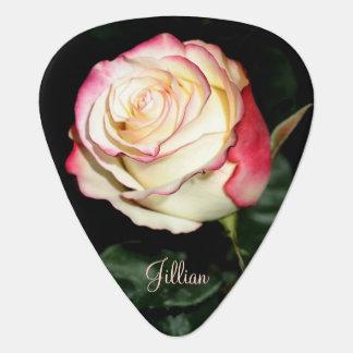 Härlig rosa gitarr Plektrum