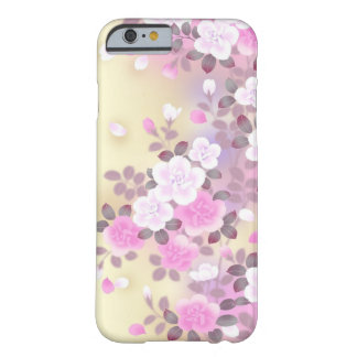 härlig rosa vit blommar vektorkonst barely there iPhone 6 fodral