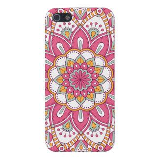 Härlig rosablommadesign iPhone 5 fodraler