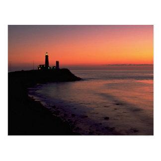 Härlig solnedgång: Montauk pekar det ljusa huset, Vykort