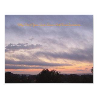 Härlig solnedgång över Kentucky 10,8 X 14 Cm Inbjudningskort