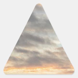 Härlig solnedgångklistermärke triangelformat klistermärke