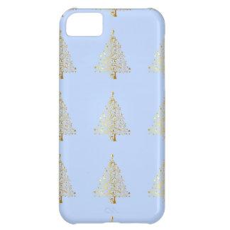 Härlig starry metallisk guld- julgran iPhone 5C fodral