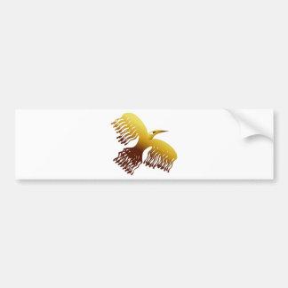 Härlig Stylized guld- Phoenix fågel Bildekal
