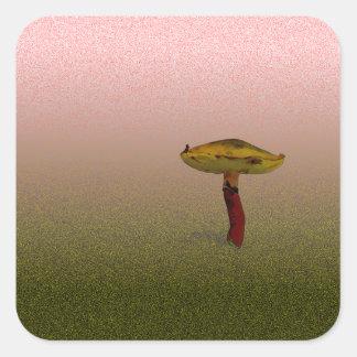 Härlig svamp fyrkantigt klistermärke