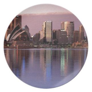 Härlig Sydney horisont Tallrik