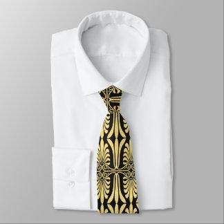 Härlig tie för svart för konstdekorguld slips