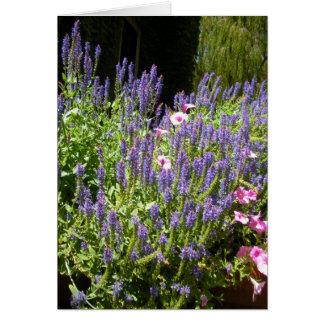 Härlig trädgård hälsningskort
