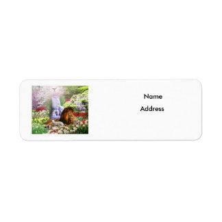 Härlig trädgård returadress etikett