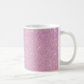 Härlig trendig mjuk shinning för lilaglitter kaffemugg