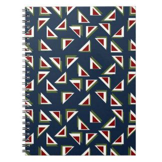 Härlig triangelanteckningsbok anteckningsbok med spiral