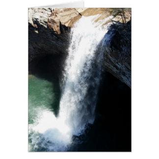 Härlig vattenfall hälsningskort