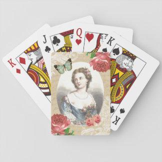 Härlig vintage som leker kort spel kort