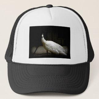 Härlig vitpåfågel truckerkeps