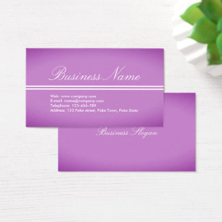 Härlig yrkesmässig Lila-Rosor visitkort