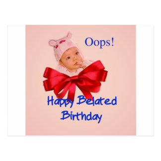 Härliga ånger för ett småbarn till den försenade vykort