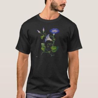 Härliga blått broderade morgonhärligheter t shirts