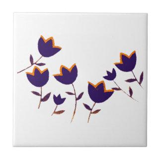 härliga blom- idéer. blomma-themed liten kakelplatta