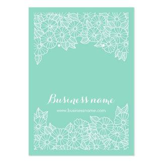 Härliga blom- kort för Mintbakgrundsörhänge Set Av Breda Visitkort