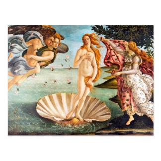 Härliga Botticelli återställda Venus och Recolored Vykort