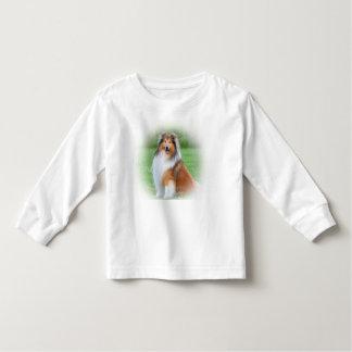 Härliga colliehundsmåbarn mufde long t-skjortan tröja