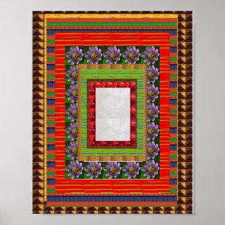 Härliga dekorativa gränser:  cadeauen häller tous poster