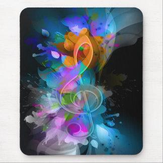 Härliga färgglada kalla splatterblommalöv mus matta