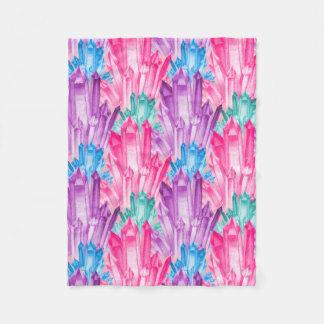 Härliga färgrika pastellfärgade kristaller för fleecefilt