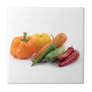 Härliga grönsaker kakelplatta