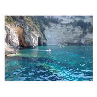 härliga grottor i Grekland Vykort