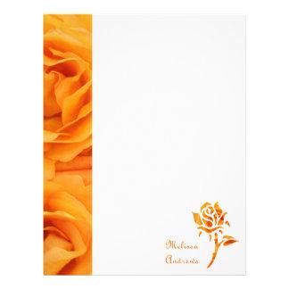 Härliga gula orange hybrid- Tearo för Monogram Brevhuvud