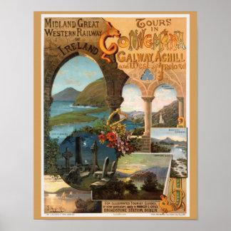 Härliga Irland reser Poster