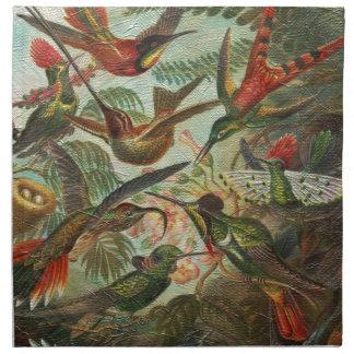 Härliga målade vintagefåglar tygservett