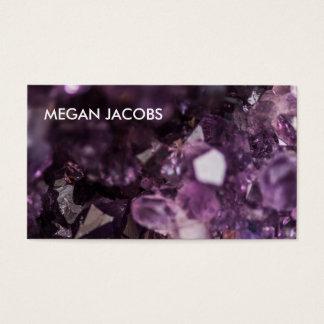 Härliga och djärva purpurfärgade Crystal Geode Visitkort
