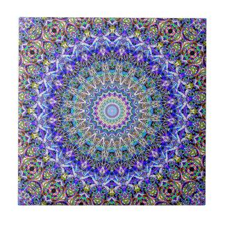 Härliga persiska blått Kaledoscope Liten Kakelplatta