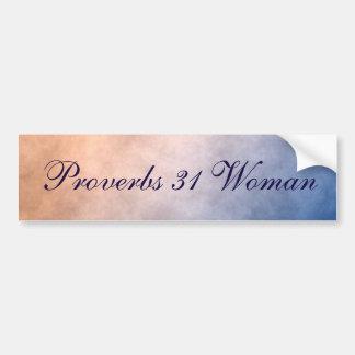 Härliga Proverbs 31 kvinnablått och orange Bildekal