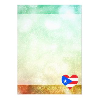 Härliga Puerto Rican 12,7 X 17,8 Cm Inbjudningskort