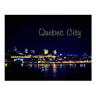 Härliga Quebec City på natt Vykort