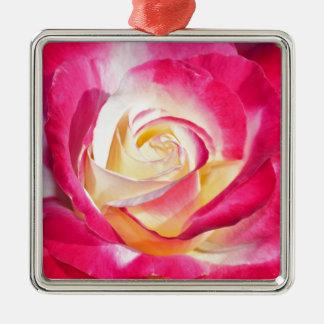 Härliga rosor och gul ros julgransprydnad metall